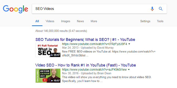 Video Keyword Example