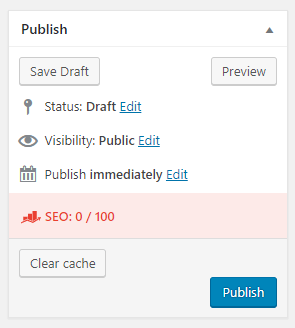 WordPress Post Publish Button